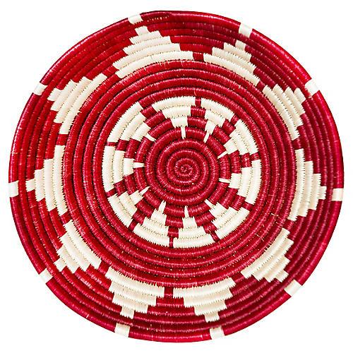 "10"" Nala Tofali Basket, Earth Red"