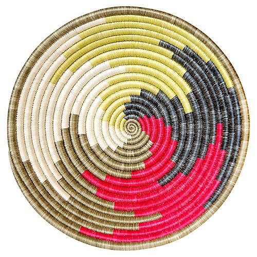 """12"""" Korren Tofali Basket, Pink/Olive/Multi"""