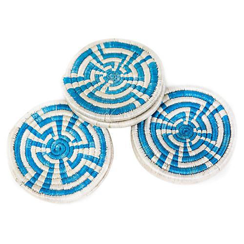 S/6 Unity Coasters, Blue/White
