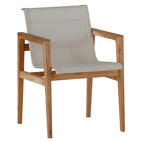 Coast Outdoor Armchair, Ivory