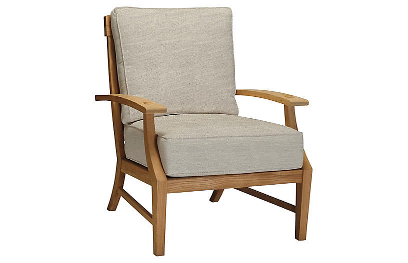 Croquet Armchair, Dove Sunbrella