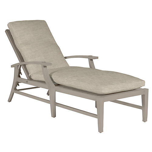 Croquet Chaise, Dove Sunbrella