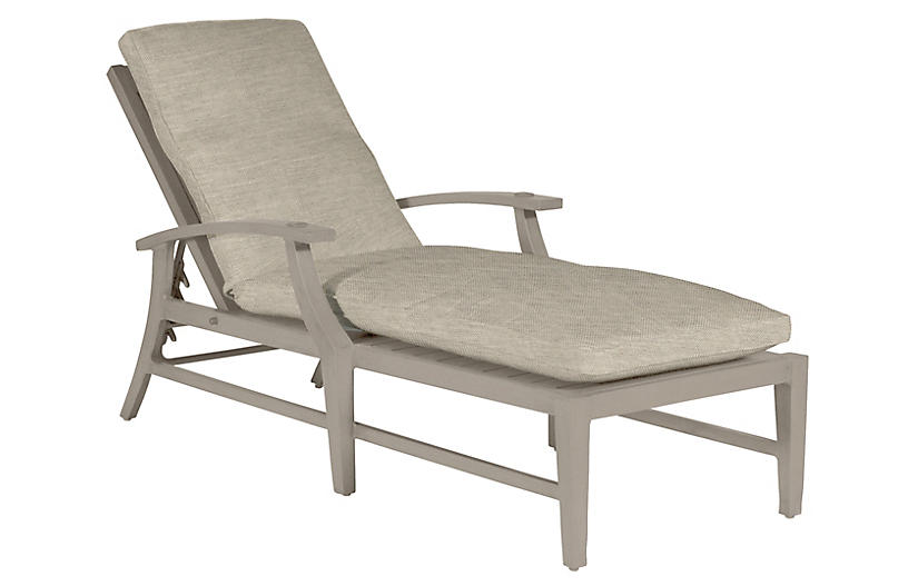 Croquet Chaise, Dove Sunbrella