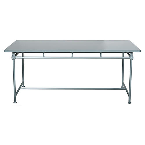 1800 Outdoor Dining Table, Blue