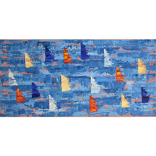 Janie Ball, Red, White, & Blue Sailboats