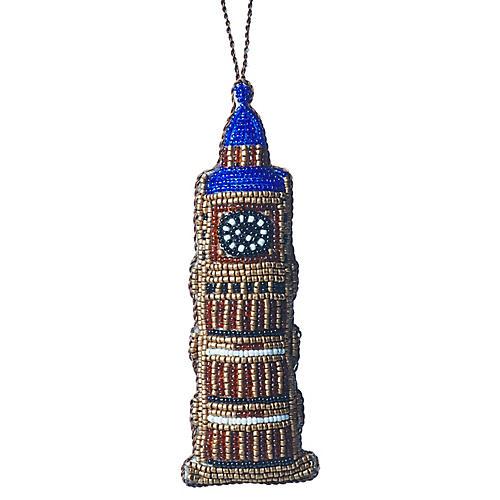 Big Ben Beaded Ornament, Gold/Multi