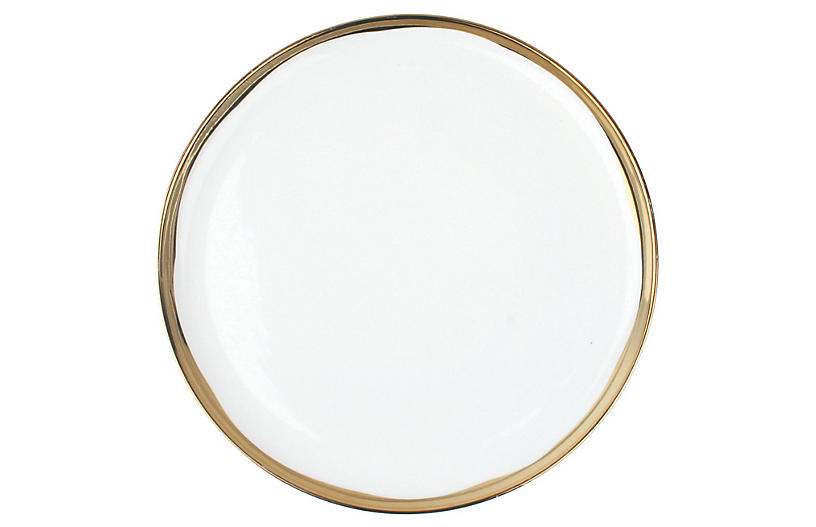 S/4 Dauville Salad Plates, Gold