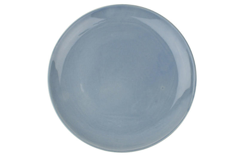 S/4 Shell Bisque Salad Plates, Blue