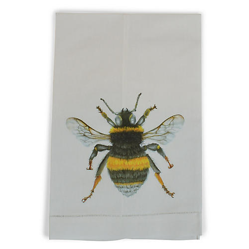 Bee Guest Towel, White/Multi