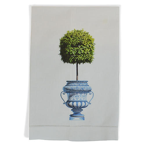 Topiary Guest Towel, White/Multi
