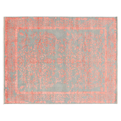 """8'x10'5"""" Modern Hand-Knotted Rug, Blush"""