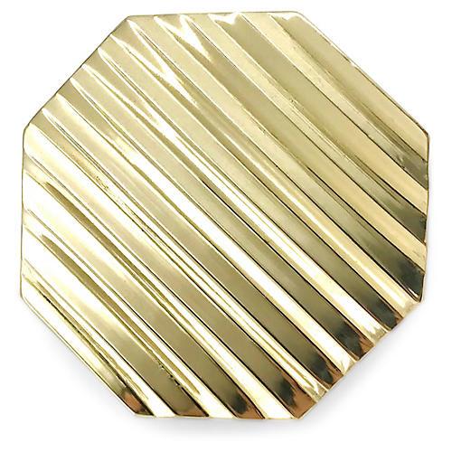 Allen Octagonal Pull, Brass