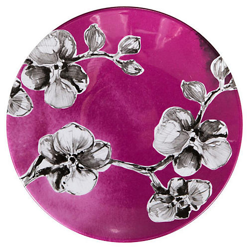 Orchid Melamine Lunch Plate, Purple