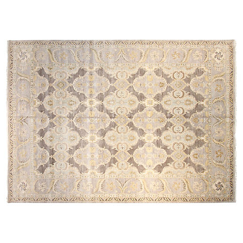 12'x15' Sari Lincoln Hand-Knotted Rug, Gray/Multi