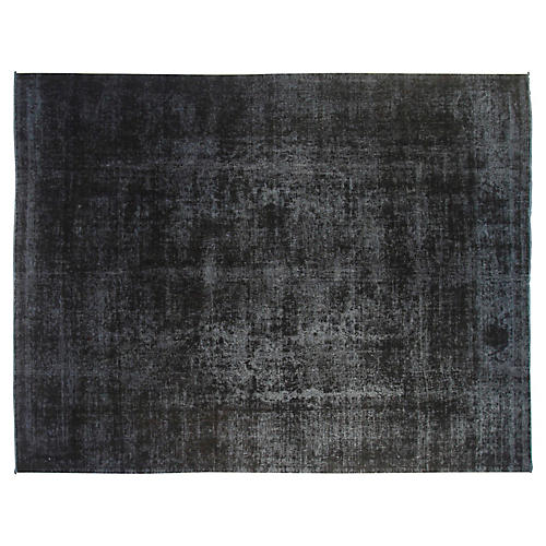 "9'6""x12'6"" Megan Hand-Knotted Rug, Black"