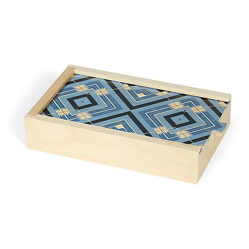 Sybil Domino Set, Sky Blue/Natural