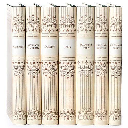S/7 Vellum Jane Austen Book Set