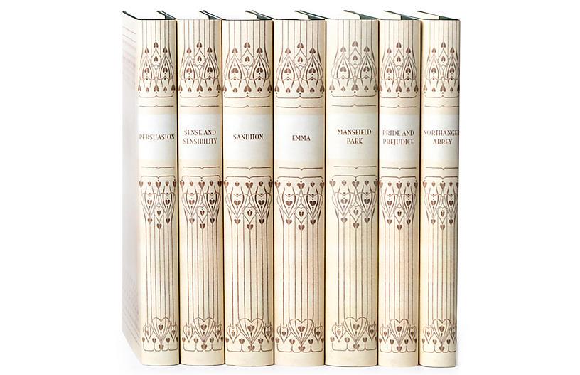S/7 Vellum Jane Austen Book Set