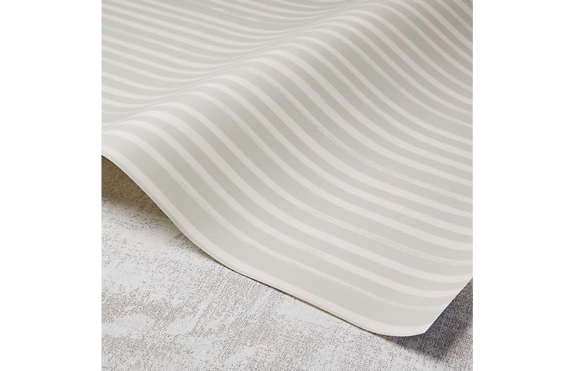 Stripes Wallpaper, Taupe/Rose Quartz