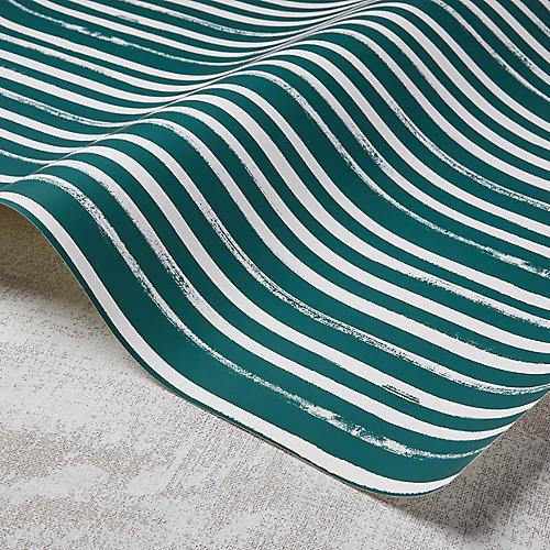 Stripes Wallpaper, Greenwich Green/White