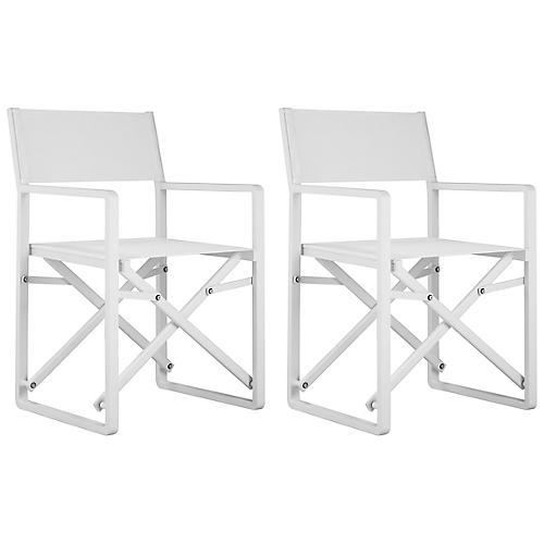 S/2 Morales Director Chairs, White