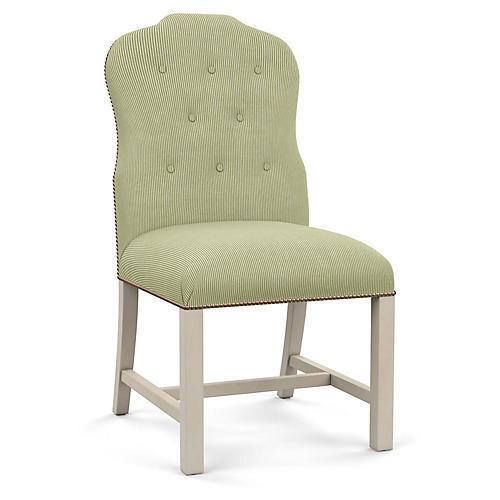 Jack Side Chair, Green Stripe