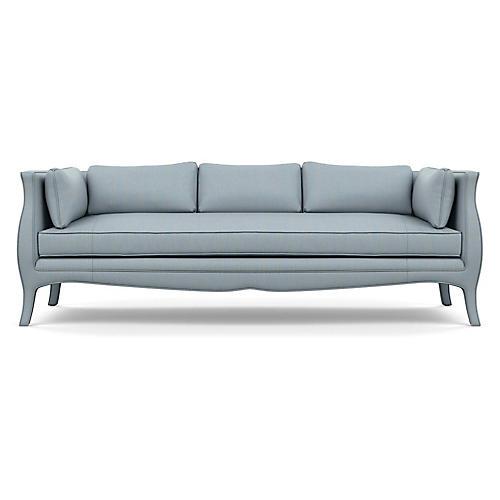 Southern Belle Sofa, Blue Diamond Linen