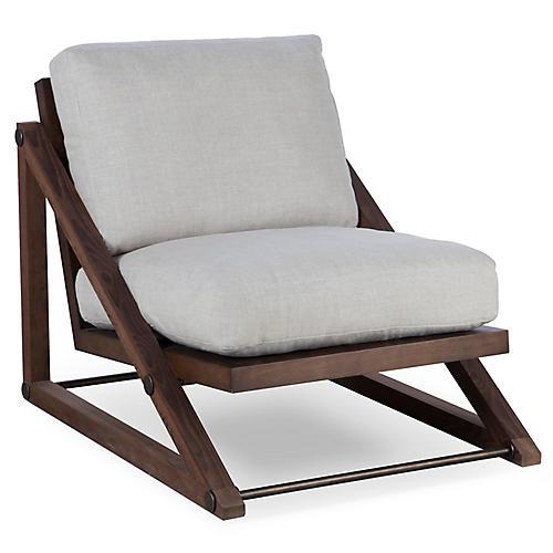 Teddy Accent Chair, Marbella Oatmeal Linen