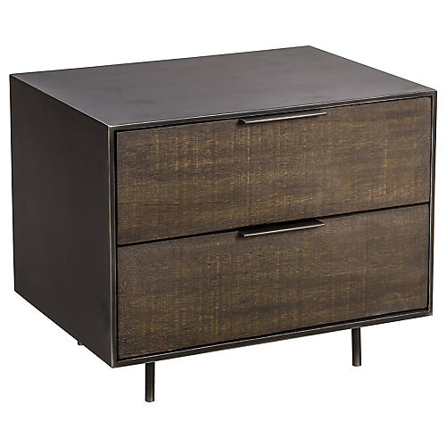 Tribeca Nightstand, Natural/Black