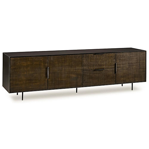 Tribeca Media Console, Natural/Black