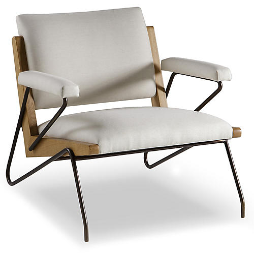 Marianne Accent Chair, Ivory