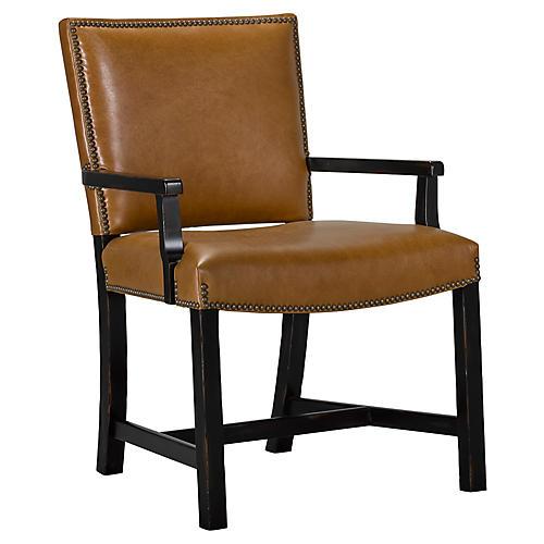 Sheffield Armchair, Saddle Leather