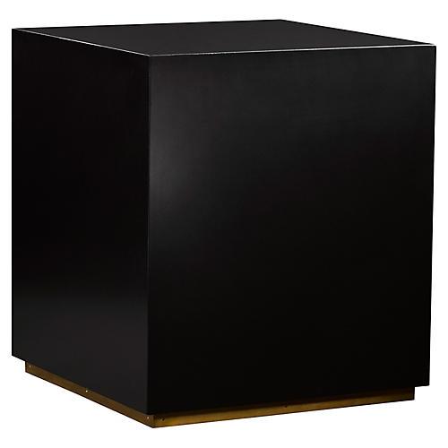 Sunset Side Table, Black/Brass