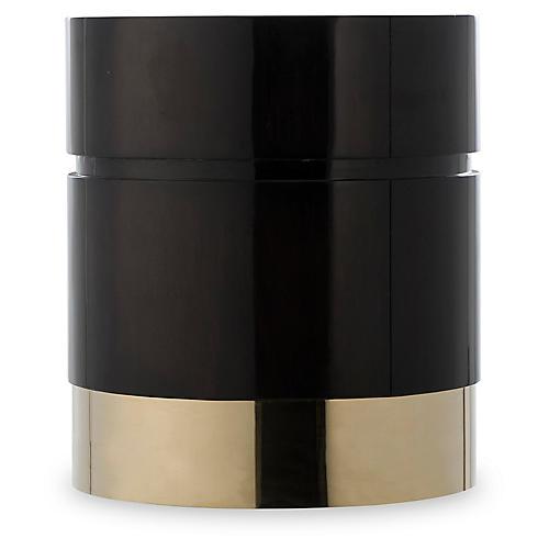 Morrison Stool, Black/Brass
