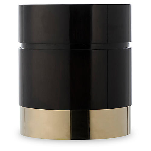 Morrison Stool, Black/Brass