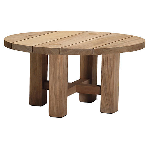Croquet Round Coffee Table, Teak