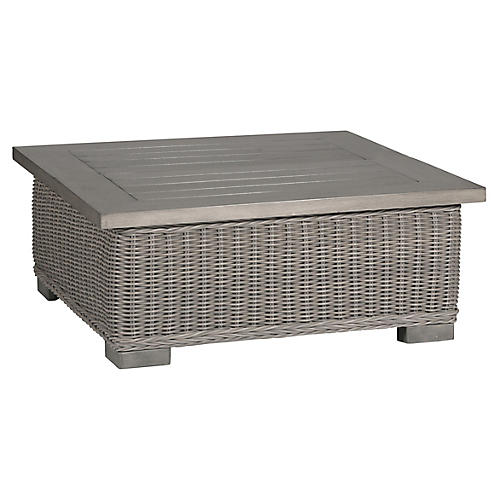 Rustic Oyster Coffee Table, Oyster