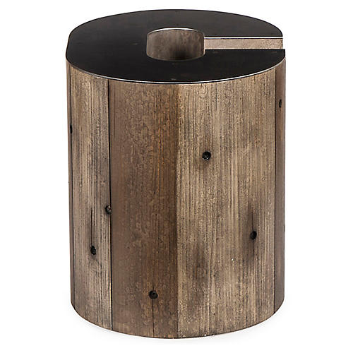 Alphabet C Side Table, Gunmetal