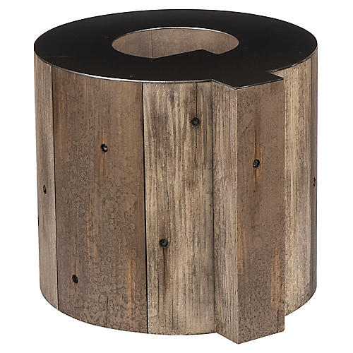 Alphabet Q Side Table, Gunmetal