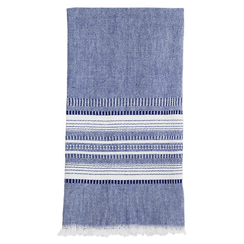 Stripe Tea Towel, Indigo/White