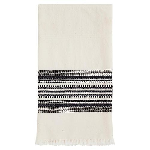 Stripe Tea Towel, Cream/Black
