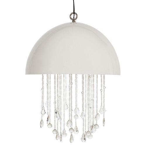 Lunar Chandelier, White