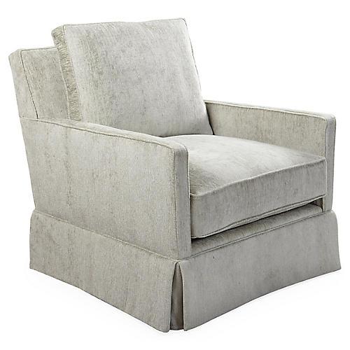 Auburn Swivel Chair, Gray