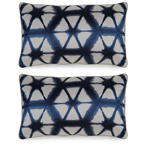 S/2 Entangle Pillows, Indigo