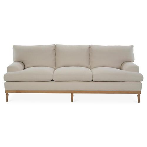 Sutton Sofa, Bisque Linen