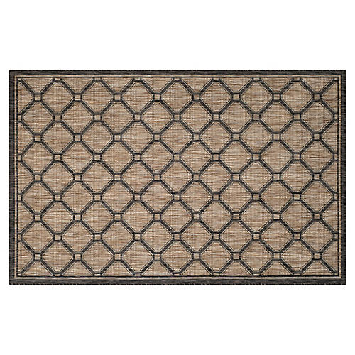 "2'3""x8' Avo Outdoor Rug, Natural"