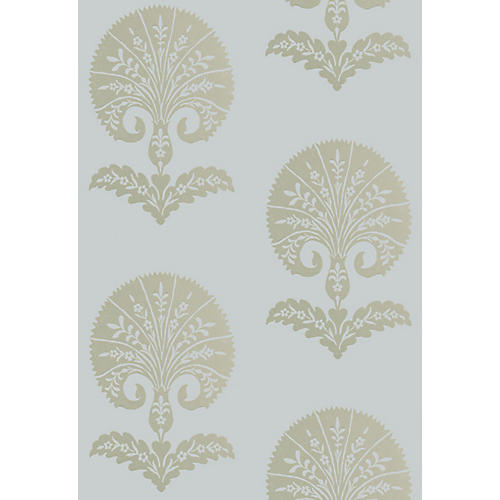Ottoman Flower Wallpaper, Heliotrope