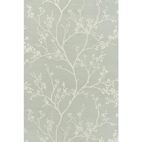 Twiggy Sisal Wallpaper, Sky