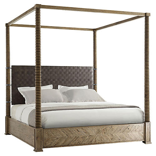 Weston Canopy Bed, Gray