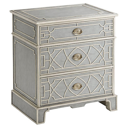 Morning Room Nightstand, Gray Limestone